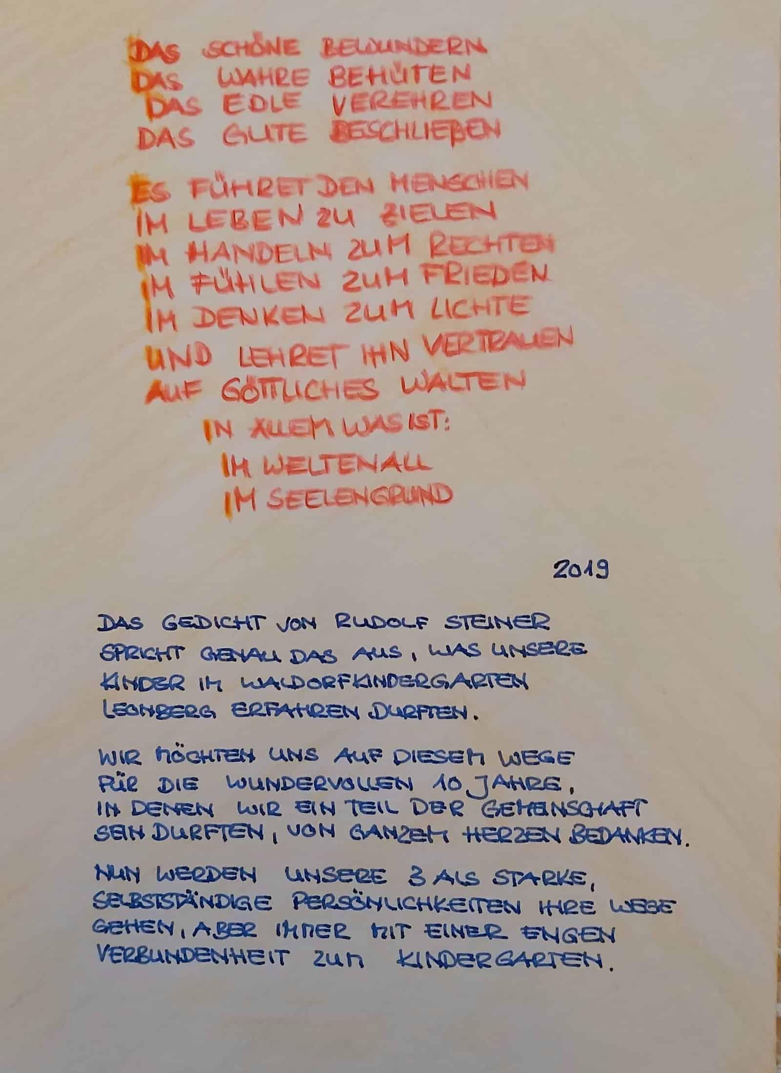 Gute Worte Waldorfkindergarten Leonberg